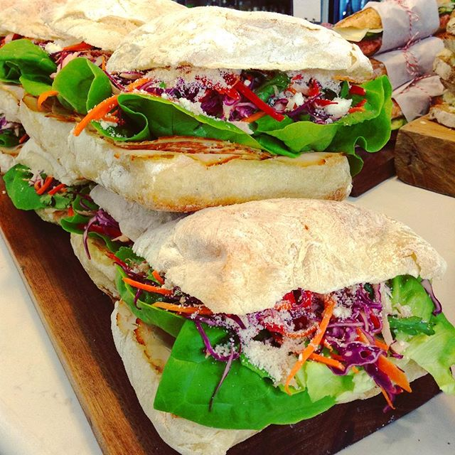 5/14/17 #milkfarmlunch Happy Mother's Day! Come celebrate at Milkfarm! TURKEY: Thai chili aioli, butter leaf lettuce, piave cheese, slaw with jicama, red bell pepper, red cabbage, carrots, & cilantro on ciabatta • SMOKED SALMON: red onions, butter leaf lettuce, cucumber, capers, & fromage blanc on multigrain • SQUASH BLOSSOM: zucchini, roasted corn, grilled halloumi, feta, & herb salad on naan • THE CLAUDINE: wine cured salami, Beurremont butter, comté cheese, fresh cucumbers, & cracked pepper on ficelle • SIGNATURE GRILLED CHEESE • SIGNATURE MAC & CHEESE