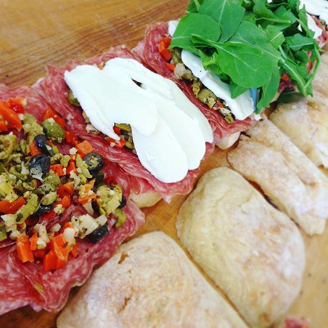 7/8/17 #milkfarmlunch •MUFFALETTA: salami, roasted garlic aioli, muffaletta mix, greens, fresh mozzarella on ciabatta •AVOCADO VEGGIE: fresh avocado, tomatoes, fresh cucumber, greens, herbed butter, roasted garlic aioli, Holey Cow cheese •TURKEY MELT: aioli, Brie, arugula, & pickled raisin compote on country bread •ROAST BEEF: black garlic aioli, red onion marmalade, arugula, & Gorgonzola dolce on ficelle •FRENCH HAM, BRIE & BUTTER: Jambon du Paris, French cultured butter, double cream Fromager D'Affinois, cracked pepper on ficelle •CAPRESE: fresh basil, oven roasted tomatoes, bocconcini mozzarella, 18 year balsamic & EVOO on ficelle •PORK LOIN MELT: house roasted pork loin, sundried tomato fennel relish w/ mustard seeds, roasted garlic aioli, Holey Cow and smoked mozzarella on ciabatta •GRILLES CHEESE •MAC N CHEESE •COOKIES