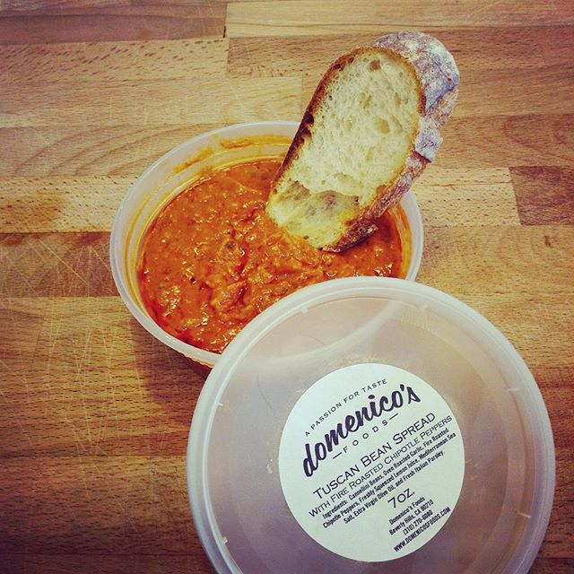 Domenico's locally made Tuscan Bean Spread with fire roasted chipotle peppers is now in stock at Milkfarm! Use this delicious spread to add some spice to your sandwich or your next dinner party! @domsfoods 8/12/17 #milkfarmlunch TURKEY: avocado, oven roasted tomatoes, pickled red onions, butter leaf lettuce, Holey Cow cheese, aioli, & grain mustard on ciabatta • SPECK: fresh fig jam, onion jam, double cream Brie, & baby kale on fig walnut bread • PROSCIUTTO: beurremont butter, Piave cheese, fresh apricots, baby kale, & olive oil on ficelle • MUFFALETTA: salami rosa, mortadella, greens, aioli, & fresh mozzarella on ciabatta • COUNTRY PÂTÈ: Gruyere, cornichons, greens, grain mustard, & aioli on ficelle • CHORIZO SORIA: cabra romero, smoked mozzarella, cilantro, oven roasted tomatoes, & Mama Lil's pickled peppers on country bread • RACLETTE GRILLED CHEESE: Raclette cheese, grain mustard, cornichons, & classic aioli on country • SIGNATURE GRILLED CHEESE