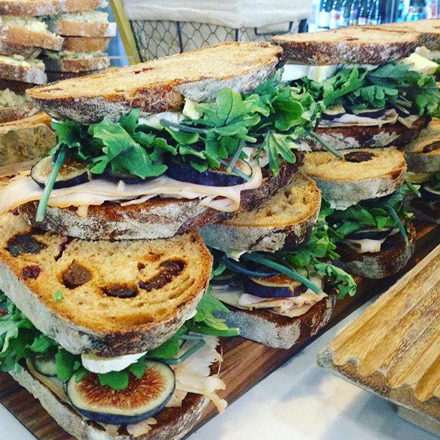 9/9/17 #milkfarmlunch TURKEY & FIG MELT: fresh figs, onion jam, greens & double cream Brie on fig walnut bread • AVOCADO VEGGIE: oven roasted tomatoes, fresh cucumber, herbed butter, greens, & Holey Cow cheese on multigrain • SALAMI: Tuscan white bean spread, sundried tomatoes, greens, & Pilota cheese • CHORIZO SORIA: queso romero, oven roasted tomatoes, pickled peppers, greens, & cilantro on ficelle • PORK LOIN MELT: tart cherry mostarda, beurremont butter, holey cow cheese, & smoked mozzarella on ciabatta • GENOA SALAMI: oven roasted tomatoes, radishes, holey cow cheese, greens, aioli, & fresh basil on multigrain • SIGNATURE GRILLED CHEESE • SIGNATURE MAC & CHEESE