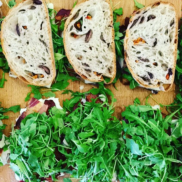 11/07/2017 #milkfarmlunch 1) JAMON SERRANO: EVOO, quince thyme jam, & idiazabal on ficelle 2) TURKEY MELT: pumpkin butter, hazelnuts, arugula, Fontina, smoked mozzarella, & Beurremont butter on ciabatta 3) BLTC: aioli, Hook's 2 year cheddar, applewood smoked bacon, arugula, & sundried tomato pesto on olive bread 4) THE RACLETTE MELT: aioli, speck, roasted potatoes, cornichons, herbs, shallots, race letter, & Dijon on multigrain 5) MILKFARM GRILLED CHEESE 6) MILKFARM MAC AND CHEESE