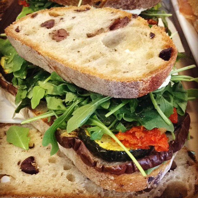 11/4/17 #milkfarmlunch TOASTED VEGGIE: roasted eggplant, zucchini, sundried tomato, arugula, classic aioli, & fresh goat cheese on olive bread • TURKEY MELT: persimmon butter, braised kale, hazelnuts, beurremont butter, Fontina, & smoked mozzarella on ciabatta • SMOKED PORK & CHORIZO: roasted tomatoes, pickled red onion, classic aioli, cilantro, idiazabal cheese, & greens on ciabatta • JAMON SERRANO: quince thyme jam, idiazabal cheese, & olive oil on ficelle • RACLETTE MELT: speck, twice cooked fingerling potatoes, shallots, fresh herbs, cornichons, classic aioli, Dijon, & raclette cheese on multigrain • FRENCH HAM: double cream Brie, beurremont butter, & cracked pepper on ficelle • SIGNATURE GRILLED CHEESE • SIGNATURE MAC & CHEESE