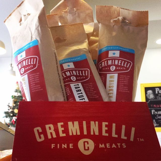 December Special! $1 off Creminelli 6oz. sticks! #stockingstuffer #blacksummertruffle #whiskey #finemeats  ---------- 12/12/17 #milkfarmlunch •HBB: french ham, herbed butter, double cream brie, cracked black pepper on ficelle •RUBY: pork & pork liver salami, aioli, herbs, gruyere, greens, dijon, cornichons, *toasted* on ficelle •PORK LOIN MELT: sundried tomato fennel relish, roasted garlic aioli, smoked mozzarella & holey cow cheese on multigrain •GRILLED CHEESE •COOKIES