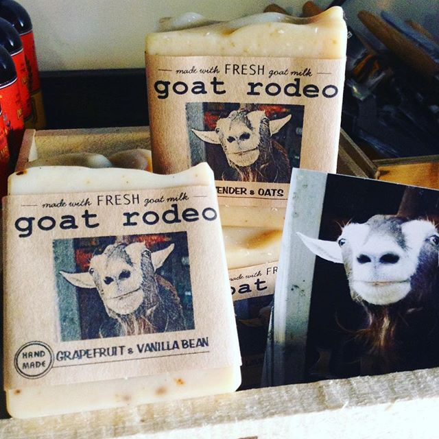 Handling mountains of cheese can get greasy, trust us, we know! At the end of the day, #luxuriate with some handmade goat's milk soap from Goat Rodeo! ?? #morethanjustcheese ----------- 1/7/18 #milkfarmlunch •ROASTED APPLE: chopped toasted walnuts, idiazabal, arugula, evoo on ficelle •PORK LOIN MELT: tart cherry mostarda, beurremont butter, smoked mozzarella, holey cow cheese, roasted garlic aioli on ciabatta •CUBANO: oven roasted pork, french ham, house pickles, cracked pepper, swiss cheese, roasted garlic aioli, spicy mustard on ciabatta •GRILLED CHEESE •MAC n CHEESE