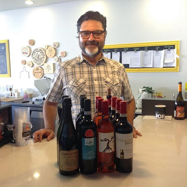 We know it's hard to resist this smiling face! Bill is at Milkfarm today offering a FREE tasting of wines from Spain, Italy, and California! 2/17/18 #milkfarmlunch • TOASTED SALAMI: salami rosa, oven roasted tomatoes, house made basil pesto with Marcona almonds, & aioli on olive bread • EGGPLANT PARMIGIANA: roasted eggplant, oven roasted tomatoes, ricotta, fresh spinach, & basil pesto with Parmigiano Reggiano on ciabatta • TURKEY MELT: sundried tomato fennel relish, holey cow cheese, fontina, & aioli on ciabatta • BOQUERONES: white Spanish anchovies, Idiazabal cheese, oven roasted tomatoes, & cilantro on ficelle • HONEY HAM: tumbleweed cheese, crisp apples, greens, aioli, & roasted hazelnutson multigrain • JAMON SERRANO: chopped Marcona almonds, idiazabal cheese, & tomato jam on ficelle • SIGNATURE GRILLED CHEESE