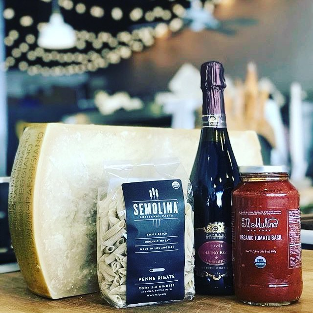 Who doesn't love pasta on a chilly Friday night? Delicious & local artisanal pasta, rich sauce, freshly grated Parmigiano Reggiano...are you hungry and inspired yet? We've got all you need for tonight's dinner! 02/16/2018 #milkfarmlunch 1) FENNEL: fennel salami, sundried tomatoes, roasted fennel, arugula, Wavreunont cheese, & EVOO on ficelle 2) FRENCH HAM: double creme Brie, herb butter, & cracked black pepper on ficelle 3) SALAMI VEGGIE: roasted eggplant & squash, arugula, sundried tomatoes, aioli, olive tapenade, Marcona almond-basil pesto, & Salami Rosa on multigrain 4) CUBANO: ham, smoked pork loin, pickles, classic aioli, Dijon, cracked black pepper, Gruyere, fontina, and smoked mozzarella on ciabatta 5) MORTADELAA: aioli, butterleaf, pepperoncini, fresh pecorino, herb aioli, & Dijon on ciabatta 6) MILKFARM GRILLED CHEESE