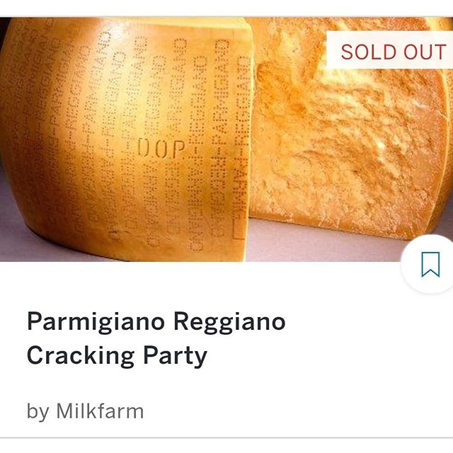 The Parmigiano Reggiano Class is sold out! We will see 48 golden ticket holders on Sunday at 5:30! Whooohooo! #education #cheeseforlife #freeappetizer #winning #themoreyouknow #spreadingthecheesegospel